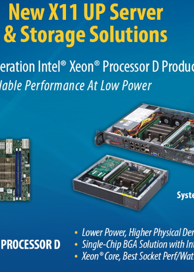 Performance & Low Power: Intel® Xeon™ D