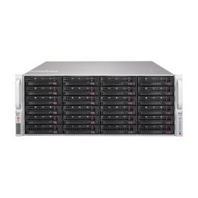 "Supermicro CSE-846BE1C-R1K28B 4U Chassis 24x3,5"" Single-Expander 2x1280W"