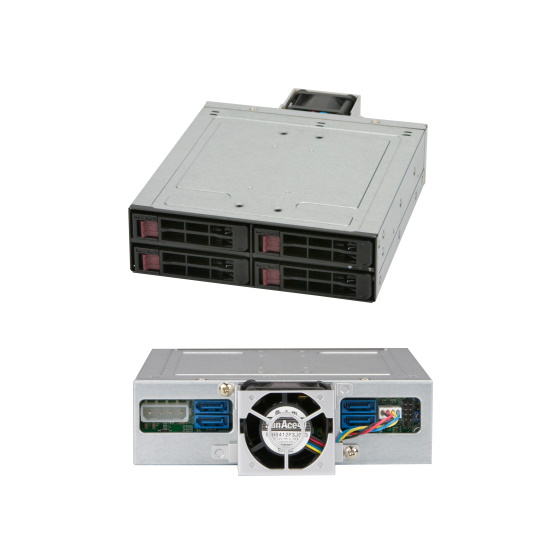 Supermicro M14TQC Mobile Rack 12G 4x2,5 in 1x5,25
