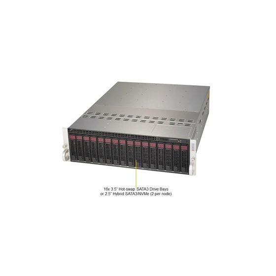 Supermicro 3U MicroCloud 5039MD18-H8TNR 8xNode SoC Xeon D-2191I 18-Core