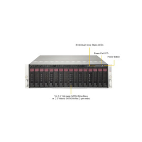 Supermicro 3U MicroCloud 5039MP-H8TNR 8xNode S3647 UP