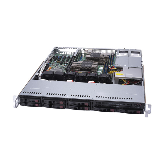 Supermicro SuperServer SYS-1029P-MTR 1U max. 2TB 2xGbE 8x2,5 2x800W Short S3647