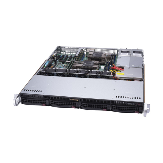 Supermicro SuperServer SYS-6019P-MTR 1U max. 2TB 2xGbE 4x3,5 2x800W Short S3647