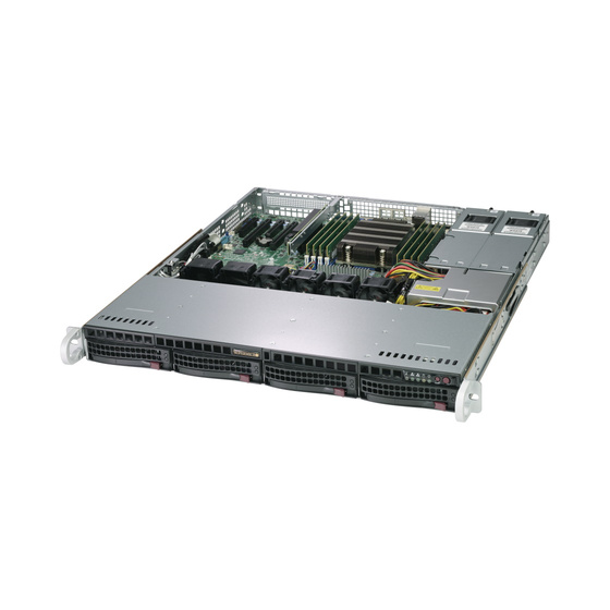 Supermicro SuperServer AS-1013S-MTR 1U max. 2TB 2xGbE 4x3,5 2x400W UP SP3